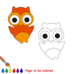 Cartoon owl to be colored.