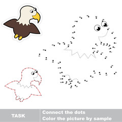Game for numbers. One cartoon eagle.