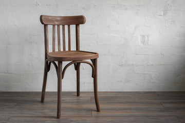 Wooden chair Fototapete