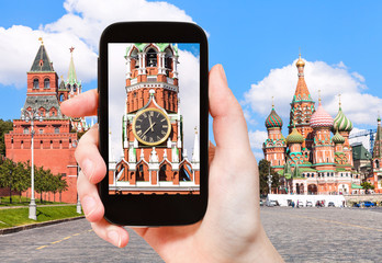 picture of Tower in Moscow Kremlin on Red square