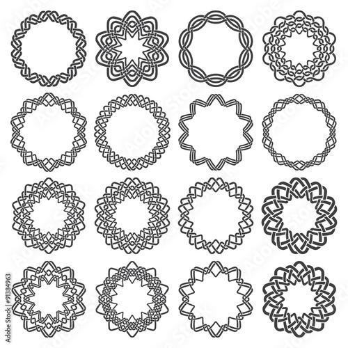 "Download ""Set of magic knotting circles. Sixteen decagon decorative ..."