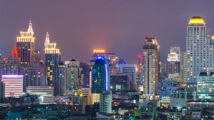 View of the Bangkok Skyscraper in Bangkok, Thailand.