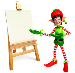 elves with drawing canvas