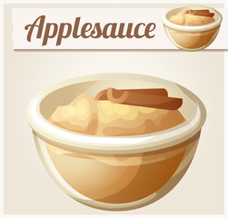 Applesauce. Detailed Vector Icon