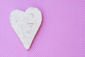 Holz Herz Weiß Shabby Liebe
