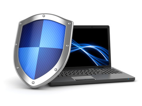 Laptop and shield