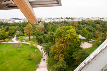 View of the Foundation Louis Vuitton in Paris, France on 29 August 2015