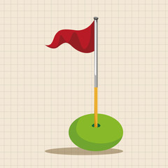 golf equipment theme elements