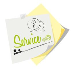 Post it   Notizzettel   Service