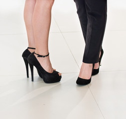 Business women's legs
