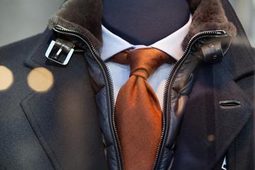Coat, tie and shirt