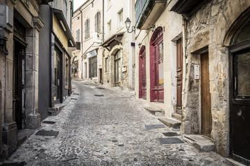 Gasse in Aubenas, Frankreich