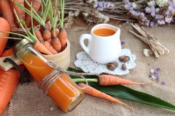 Fresh carrots and carrot juice are delicious.