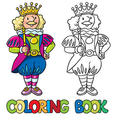 Fairy tale king. Coloring book