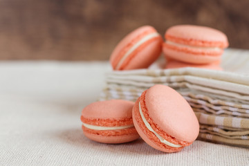Peach color macaroons