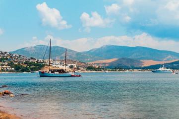 Yacht on Aegean sea