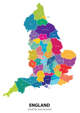England Map with Regions