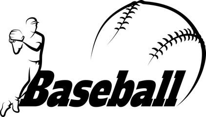 Baseball Throw with Stylized Ball
