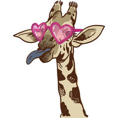 Hand drawn Illustration of Giraffe