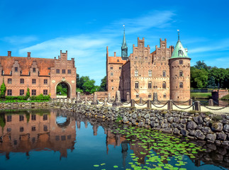 Foto op Canvas Scandinavië Egeskov Castle on Funen island in Denmark
