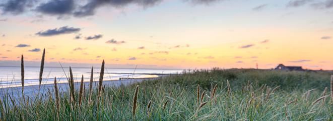 Fototapete - Sonnenuntergang am Strand
