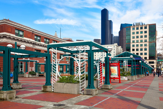 Seattle light rail station in the International District