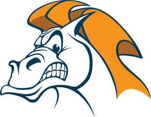 A cartoon Horse Head. Vector and high resolution jpeg files available.