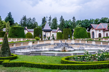 Courtyard of the Hermesvilla in Vienna, Austria. Hermesvilla is a palace in the Lainzer Tiergarten, Vienna, a former hunting area for the Habsburg nobility.
