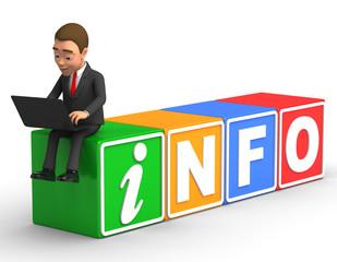 businessman looks info online