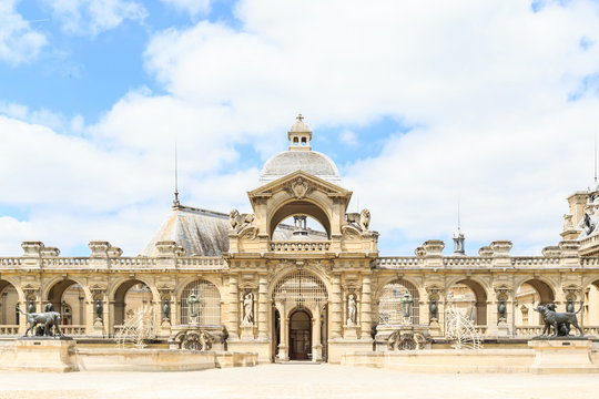 view of Chantilly castle of France