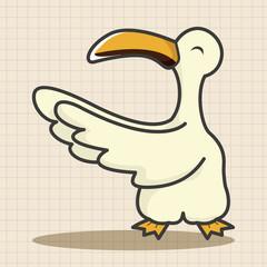 animal bird cartoon theme elements