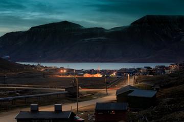 Longyearbyen at dusk