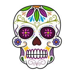 Colorful Traditional Sugar Skull