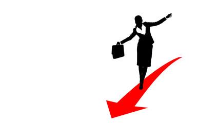 business woman arrow1
