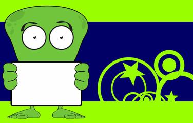 funny alien cartoon background in vector format