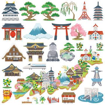日本 観光名所 アイコン