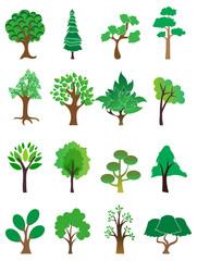 Trees icons set