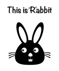 This is rabbit, rabbit vector, cute rabbit. isolated background, bunny