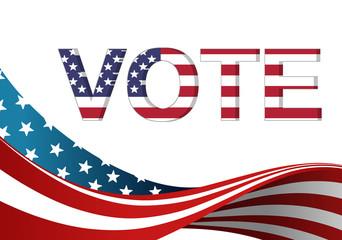 vote american flag