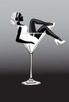 exy woman in martini glass