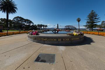 PERTH, AUSTRALIA, AUGUST, 18 2015 - People at world war memorial
