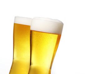 ビール Pouring beer into glass
