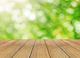 Abstract bright spring background and wooden floor