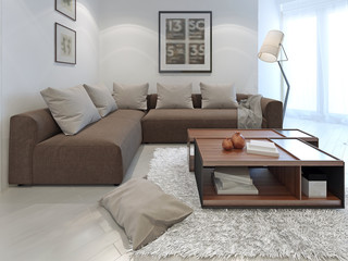 Fusion style in interior of a private house