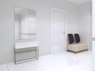Idea of bright minimalist entrance