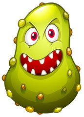 Bacteria with monster face