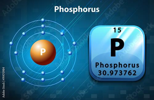 Flashcard Of Phosphorus Atom Stock Image And Royalty Free Vector