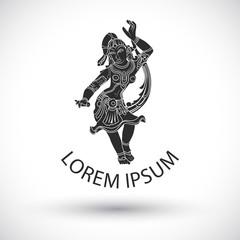 Maya traditional dancer logo Vector