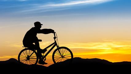 Man cycling at mountain