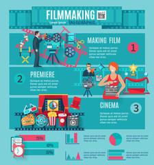 Filmmaking Infographic Set